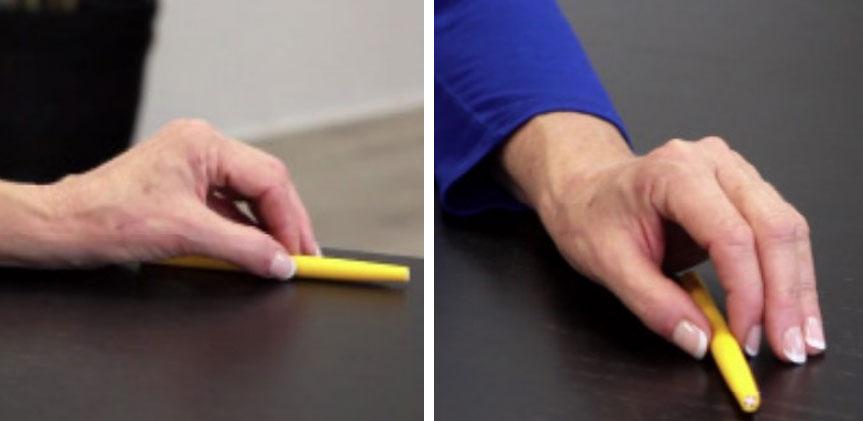 تمرین گرفتن و رها کردن مداد