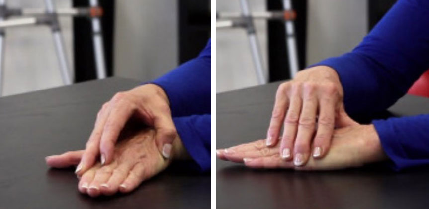 تمرین خم کردن مچ دست به چپ و راست